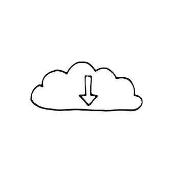 Singolo elemento di wi-fi e trasmissione nel set di doodle di affari. illustrazione vettoriale disegnata a mano per carte, poster, adesivi e design professionale.