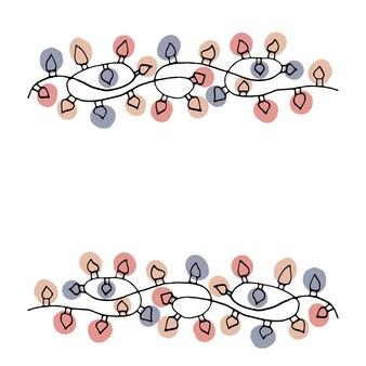 Elemento disegnato a mano singolo di capodanno e natale doodle illustrazione vettoriale elementi invernali