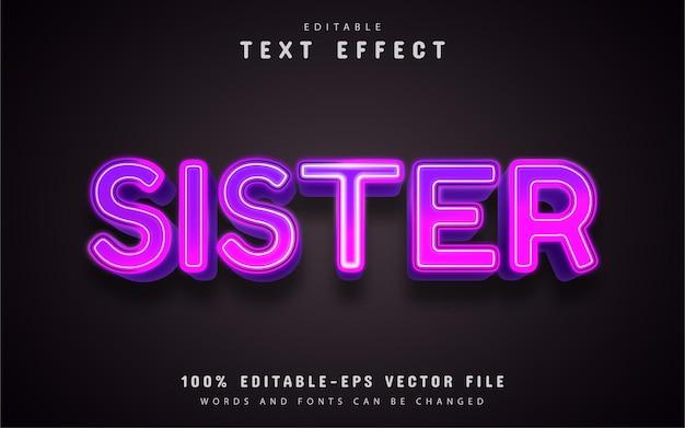 Effetto testo sorella modificabile