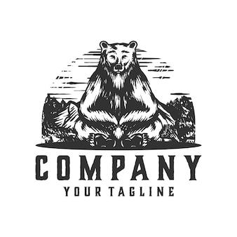 Logo dell'orso seduto