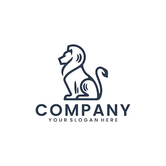 Leone seduto, ispirazione per il design del logo
