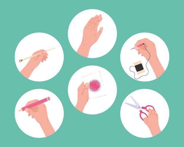 Icone di progetti realizzati a sei mani