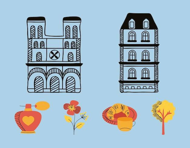 Sei icone del paese di parigi