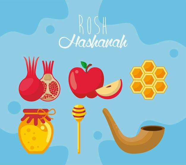Sei icone di rosh hashana