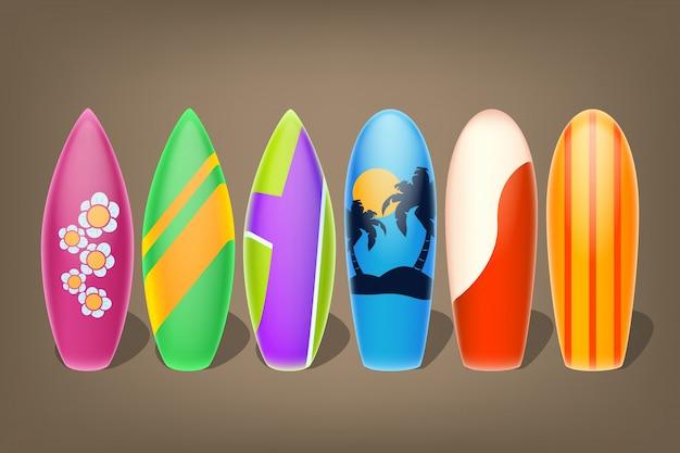 Sei surf Vettore Premium