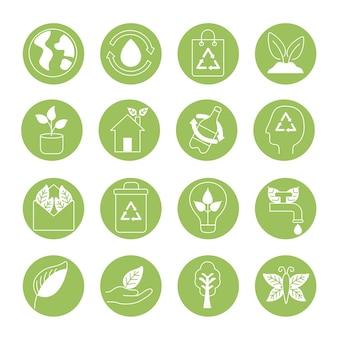 Sedici icone del biologico e della natura