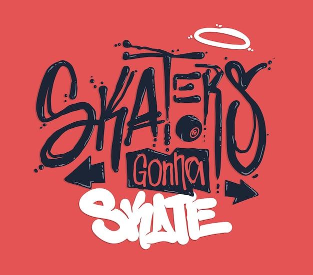 Design di stampa t-shirt da skate
