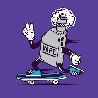 Skater vape skateboarding character design