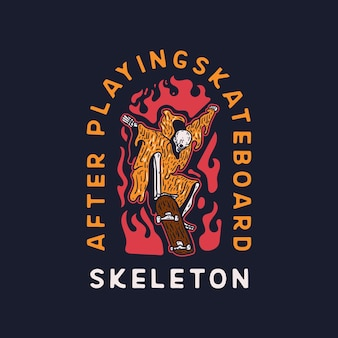 Skeleton skateboard teschio paradiso
