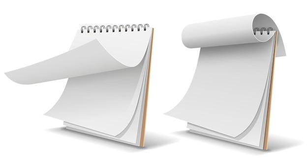 Libro bianco del libro di schizzi, modello