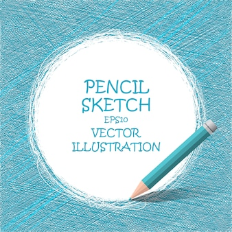 Schizzo disegno a matita. Vettore Premium