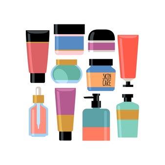 Set di cosmetici per la cura della pelle.