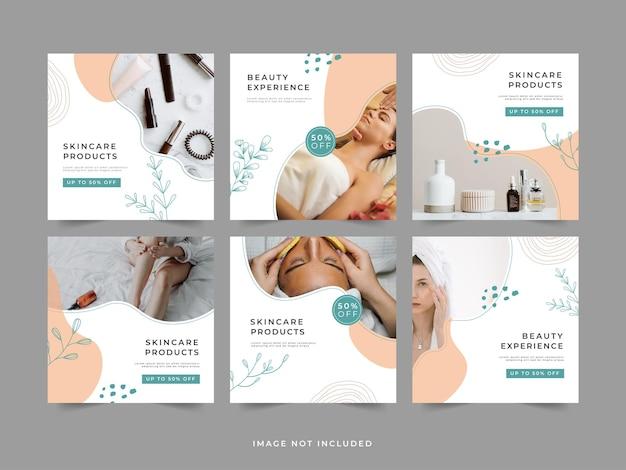 Modello di promozione della cura della pelle post instagram