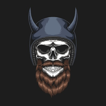 Skull biker indossa un casco