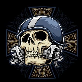 Motociclista skull