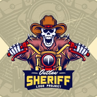 Skull bikers esport logo design