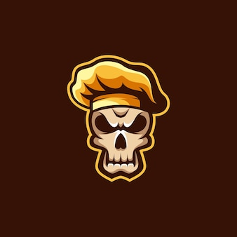 Skull chef illustration design.