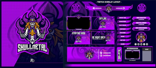 Skull ghost gaming layout