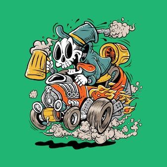 Skull go ride the bear