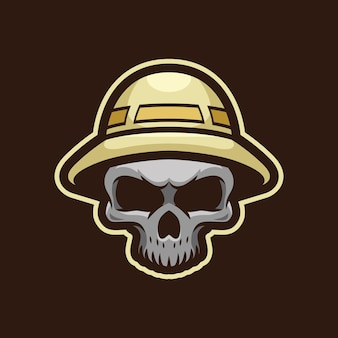 Skull hunter mascotte logo design