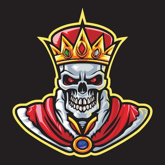 Skull king esport logo illustrazione