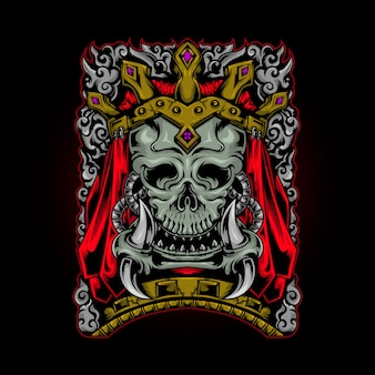 Skull king ornament