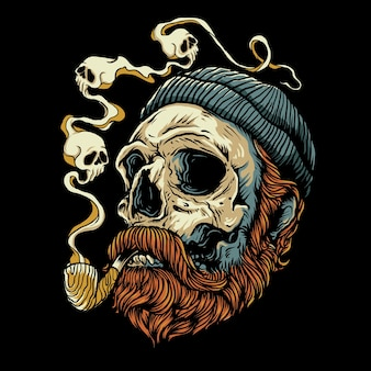 Illustrazione del boscaiolo del cranio
