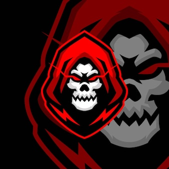 Modelli di logo skull master esports