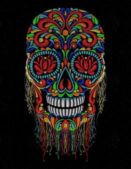 Teschio punto messicano