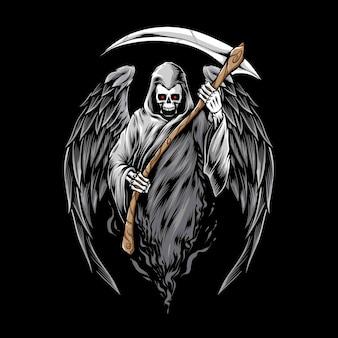 Falce della holding del reaper del cranio