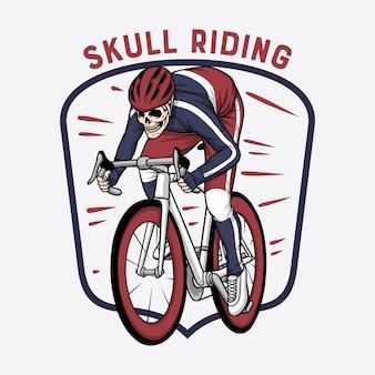 Bicicletta da corsa con teschio
