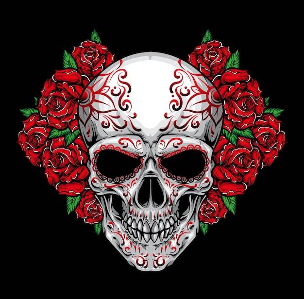Rose teschio