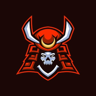 Logo skull samurai esports