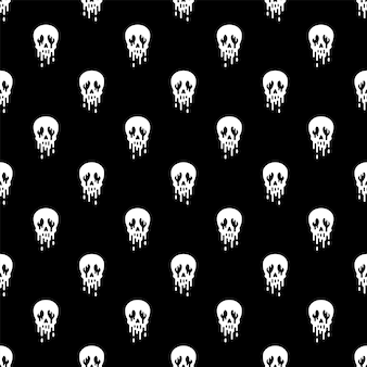 Cartoo del fantasma di halloween del reticolo senza giunte del cranio