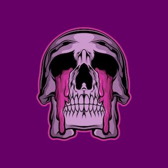 Illustrazione di gocce di lacrima del cranio
