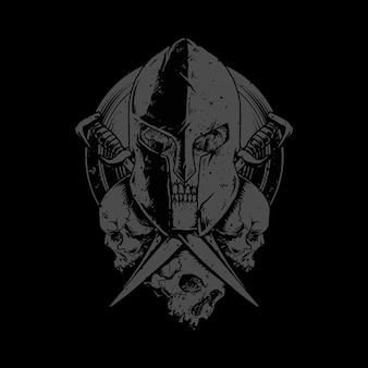 Illustrazione della spada dell'orrore del guerriero del cranio