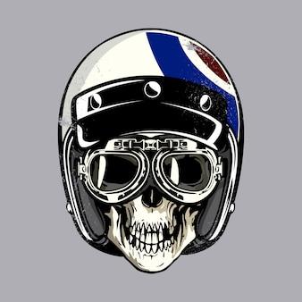 Cranio con casco americano