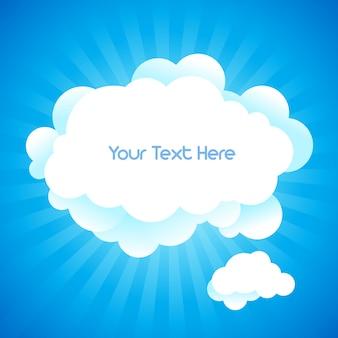 Sfondo del cielo e spazio per il testo in.