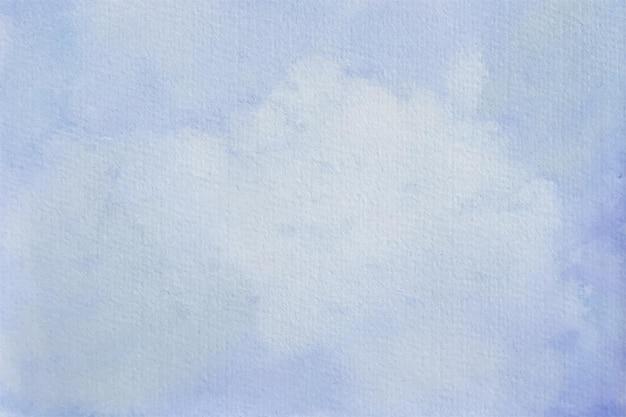Priorità bassa pastello dell'acquerello astratto blu cielo