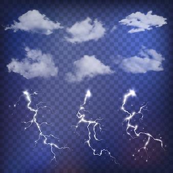 Creatore di cielo con nuvole realistiche e temporali.