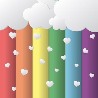 Sky e il cuore pioveranno sul concetto di orgoglio lgbt