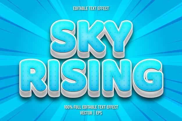 Sky in aumento effetto testo modificabile in stile fumetto