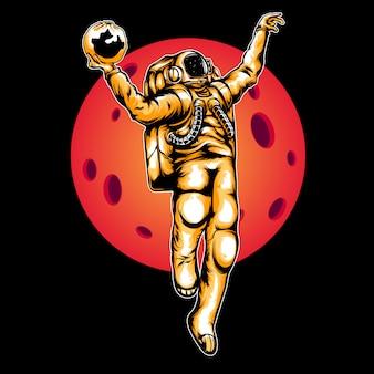 Illustrazione di astronauta di slamdunk