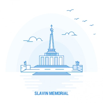 Slavin memorial blue landmark