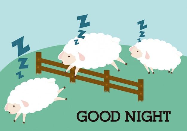 Sleep design. illuistration