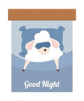Sleep design. illuistration Vettore Premium
