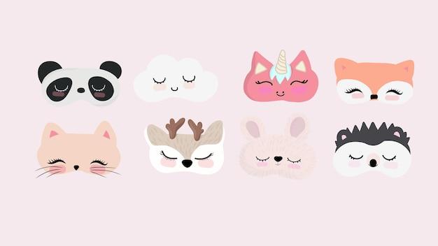 Set di maschere per gli occhi per dormire