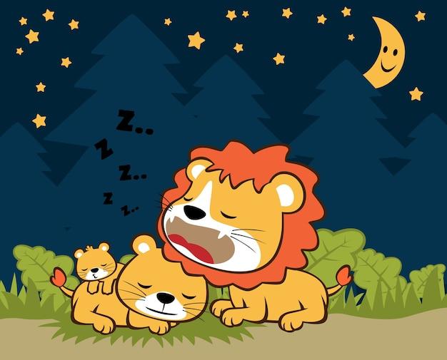 Tempo di sonno vettore di cartone animato