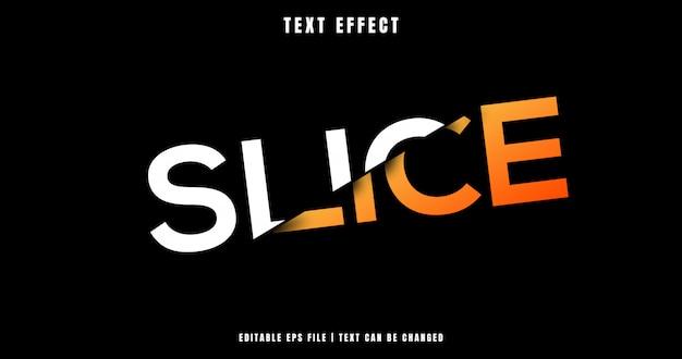 Slice effetto di testo modificabile 3d