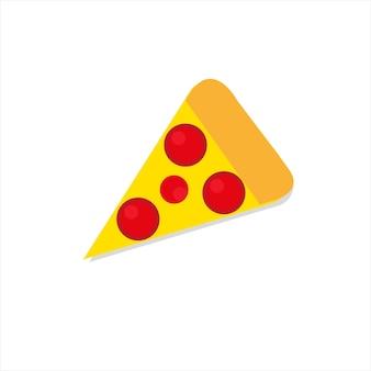 Una fetta di pizza su uno sfondo bianco illustrazione vettoriale